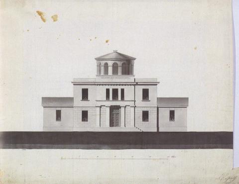 Observatoriet, Oslo. Tegning Grosch.